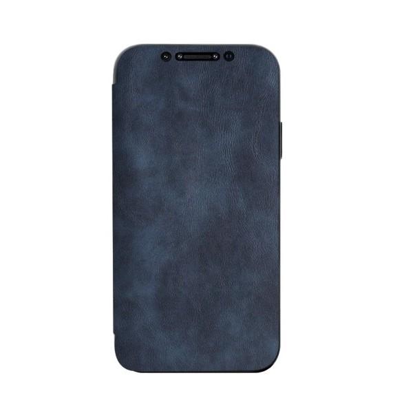 Husa Premium Flip Book Upzz Leather iPhone 12 / iPhone 12 Pro , Piele Ecologica, Blue imagine itelmobile.ro 2021