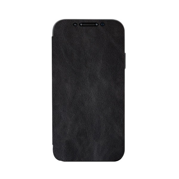 Husa Premium Flip Book Upzz Leather iPhone 12 / iPhone 12 Pro , Piele Ecologica, Negru imagine itelmobile.ro 2021