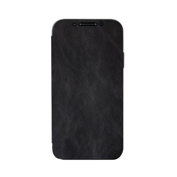 Husa Premium Flip Book Upzz Leather iPhone 12 Mini, Piele Ecologica, Negru imagine itelmobile.ro 2021