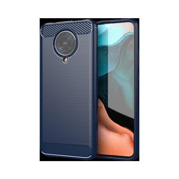 Husa Spate Upzz Carbon Compatibila Cu Xiaomi Poco F2 Pro , Albastru - Antishock imagine itelmobile.ro 2021