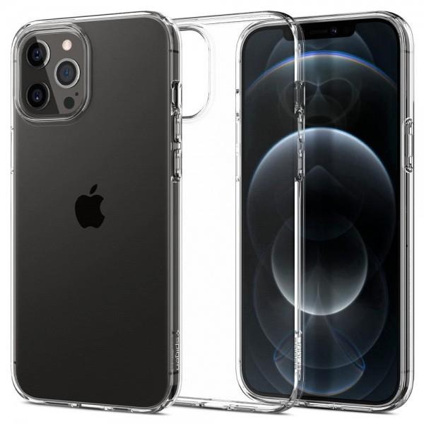 Husa Premium Spigen Liquid Crystal iPhone 12 Pro Max ,transparenta - Acs01613 imagine itelmobile.ro 2021