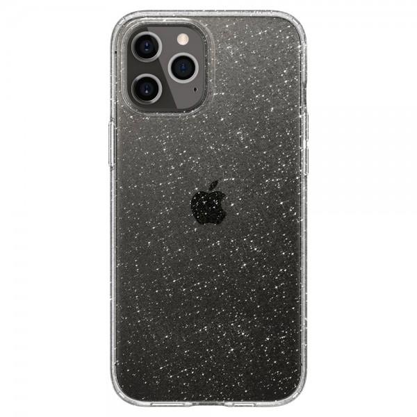 Husa Premium Spigen Liquid Crystal Glitter iPhone 12 / iPhone 12 Pro ,transparenta - Acs01698 imagine itelmobile.ro 2021