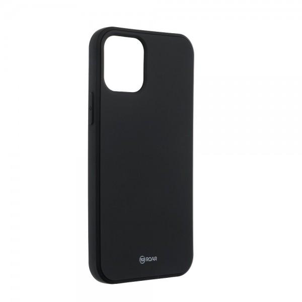 Husa Spate Roar Jelly iPhone 12 / iPhone 12 Pro ,silicon - Negru imagine itelmobile.ro 2021