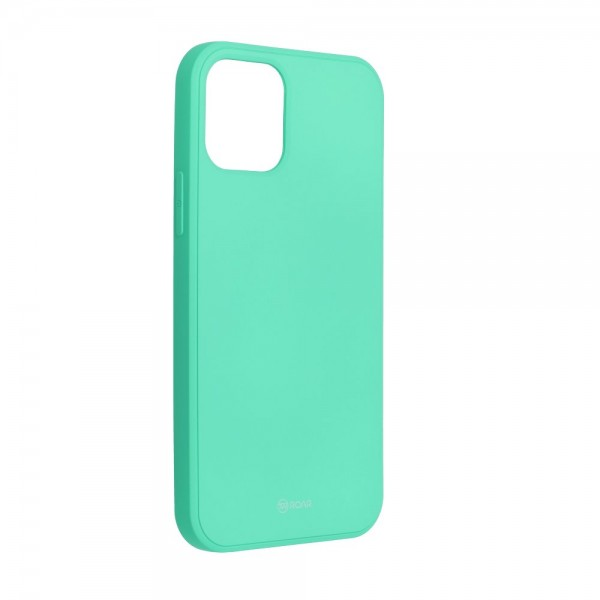 Husa Spate Roar Jelly iPhone 12 / iPhone 12 Pro ,silicon - Verde Menta imagine itelmobile.ro 2021