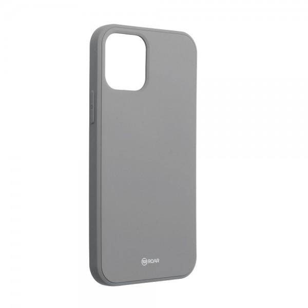 Husa Spate Roar Jelly iPhone 12 Mini ,silicon - Gri imagine itelmobile.ro 2021