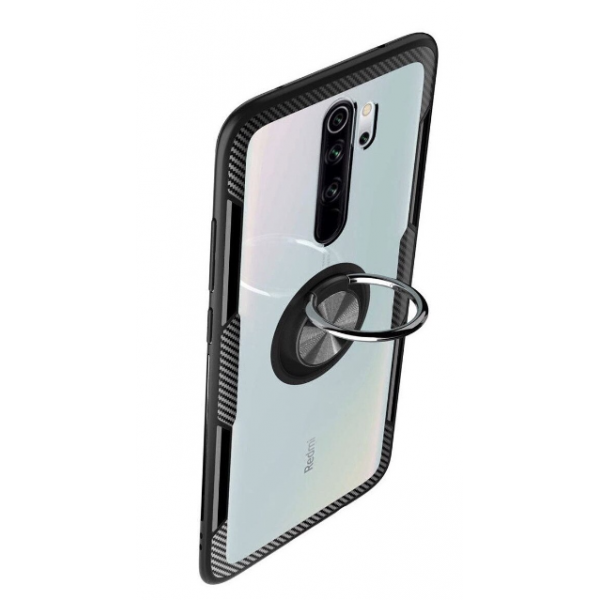Husa Spate Premium Iring Metalic Upzz Clear Pentru Xiaomi Note 8 Pro , Cu Ring Metalic Pe Spate Transparent imagine itelmobile.ro 2021