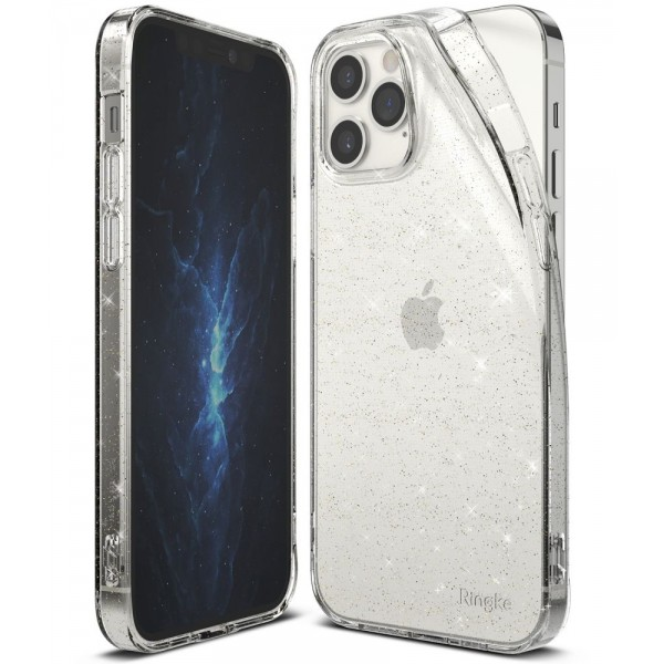 Husa Premium Ringke Air Pentru iPhone 12 / iPhone 12 Pro Glitter -transparent imagine itelmobile.ro 2021