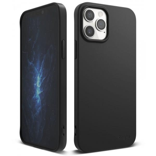 Husa Premium Ringke Air S Pentru iPhone 12 / iPhone 12 Pro ,silicon , Negru imagine itelmobile.ro 2021