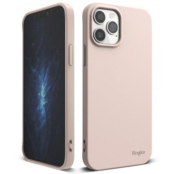 Husa Premium Ringke Air S Pentru iPhone 12 / iPhone 12 Pro ,silicon , Roz Sand imagine itelmobile.ro 2021
