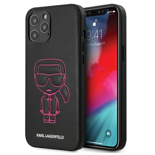 Husa Premium Karl Lagerfeld iPhone 12 Pro Max ,colectia Karl Ikonik Outline ,negru - Klhcp12lpcuikpi imagine itelmobile.ro 2021