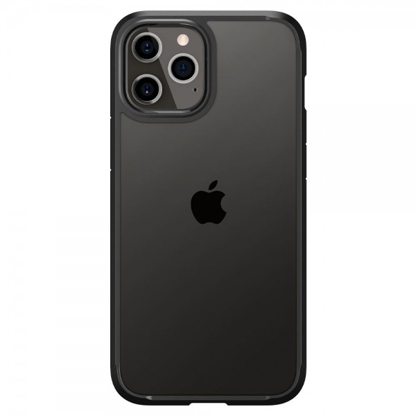 Husa Premium Spigen Ultra Hybrid iPhone 12 Pro Max ,negru Transparent - Acs01619 imagine itelmobile.ro 2021