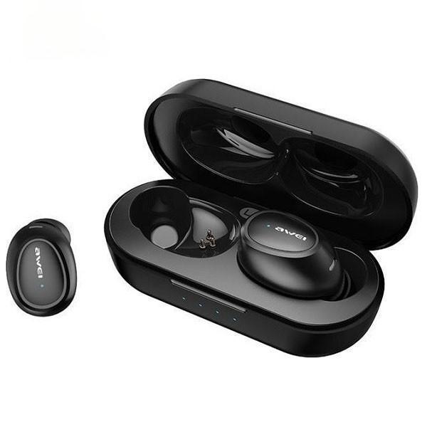 Casti Audio Wireless Awei ,versiune Bluetooth 5.0 ,carcasa Cu Functie De Incarcare ,negre -t16 imagine itelmobile.ro 2021
