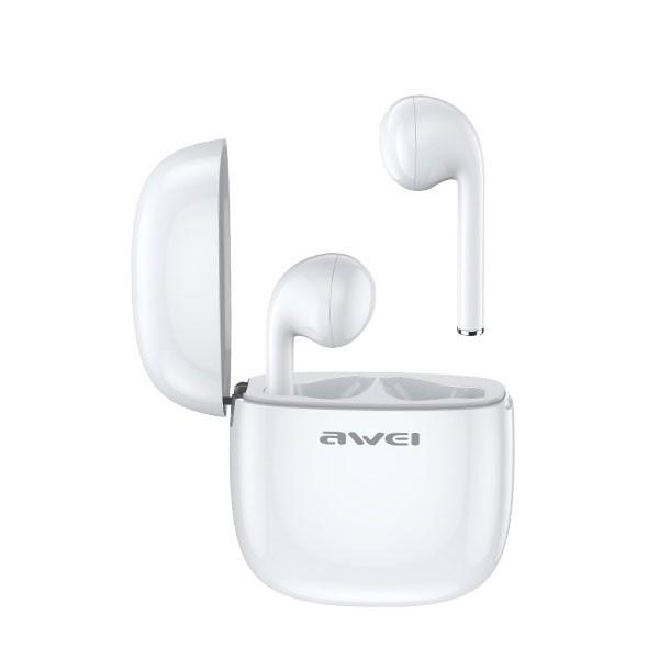Casti Audio Wireless Awei ,versiune Bluetooth 5.0 ,carcasa Cu Functie De Incarcare ,albe-t28 imagine itelmobile.ro 2021