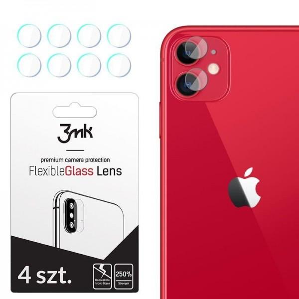 Set 4 Buc Folie Sticla Nano Glass Pentru Camera 3mk iPhone 11 Transparenta imagine itelmobile.ro 2021