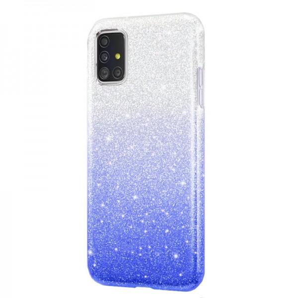 Husa Spate Upzz Shiny Lux Samsung Galaxy A51 , Silver Albastru imagine itelmobile.ro 2021