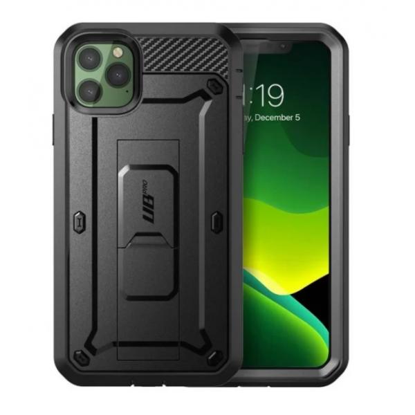 Husa Premium 360 Grade iPhone 12 Pro / iPhone 12 , Unicorn Beetle Pro Negru imagine itelmobile.ro 2021
