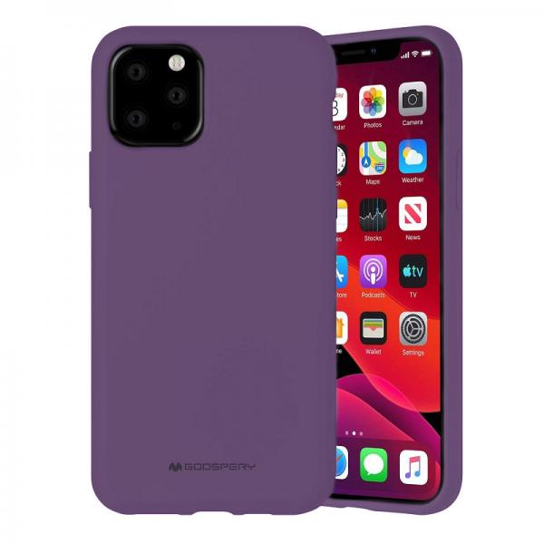 Husa Spate Mercury Silicone iPhone 12 Pro Max ,cu Interior Alcantara , Mov imagine itelmobile.ro 2021