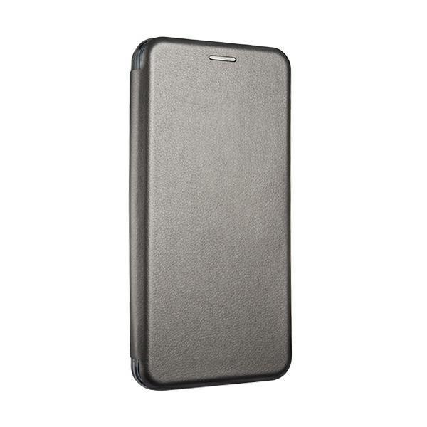 Husa Flip Carte Cu Magnet Lux Upzz Compatibila Cu iPhone 12 / iPhone 12 Pro , Gri imagine itelmobile.ro 2021