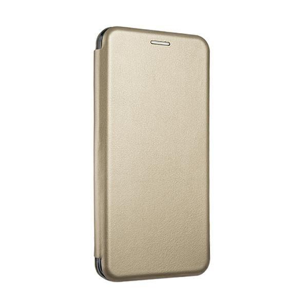 Husa Flip Carte Cu Magnet Lux Upzz Compatibila Cu iPhone 12 / iPhone 12 Pro , Gold imagine itelmobile.ro 2021