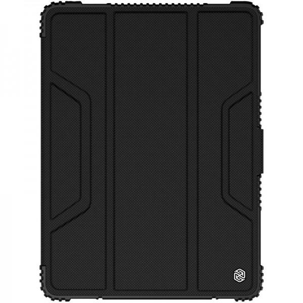 Husa Premium Originala Nillkin Armor Leather Ipad 7 / 8 10.2 Inch 2019 / 2020 Negru - imagine itelmobile.ro 2021