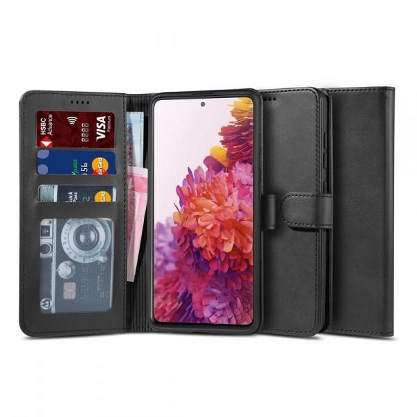 Husa Flip Carte Upzz Tech Wallet Samsung Galaxy S20 Fe , Negru imagine itelmobile.ro 2021