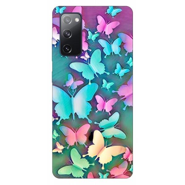 Husa Silicon Soft Upzz Print Samsung Galaxy S20 Fe Model Colorfull Butterflies imagine itelmobile.ro 2021