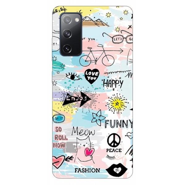 Husa Silicon Soft Upzz Print Samsung Galaxy S20 Fe Model Meow imagine itelmobile.ro 2021