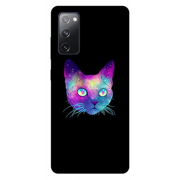 Husa Silicon Soft Upzz Print Samsung Galaxy S20 Fe Model Neon Cat imagine itelmobile.ro 2021