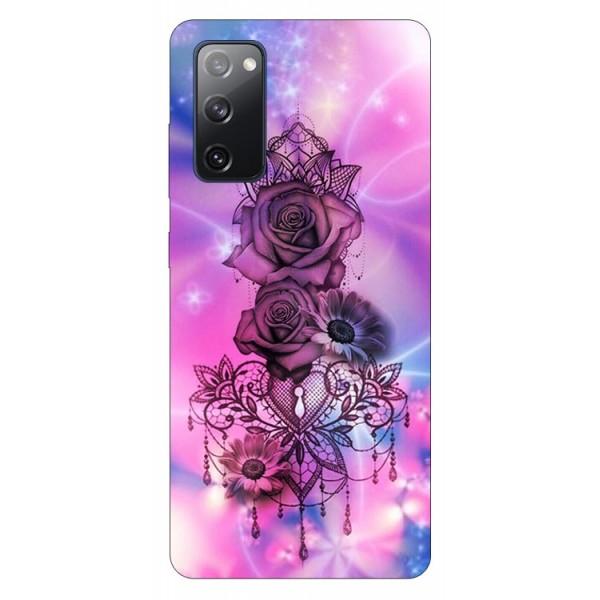 Husa Silicon Soft Upzz Print Samsung Galaxy S20 Fe Model Neon Rose imagine itelmobile.ro 2021