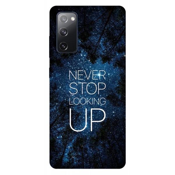 Husa Silicon Soft Upzz Print Samsung Galaxy S20 Fe Model Never Stop imagine itelmobile.ro 2021