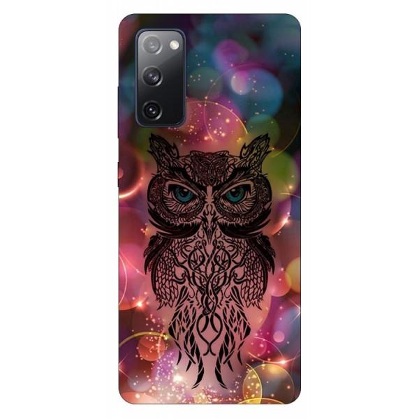 Husa Silicon Soft Upzz Print Samsung Galaxy S20 Fe Model Sparkle Owl imagine itelmobile.ro 2021