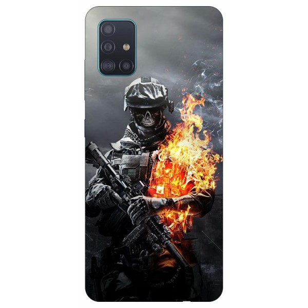 Husa Silicon Soft Upzz Print Samsung Galaxy M51 Model Soldier imagine itelmobile.ro 2021