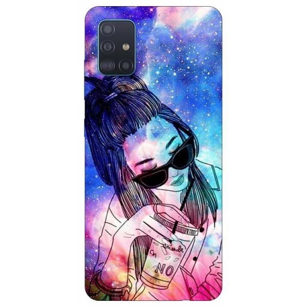 Husa Silicon Soft Upzz Print Samsung Galaxy M51 Model Universe Girl imagine itelmobile.ro 2021