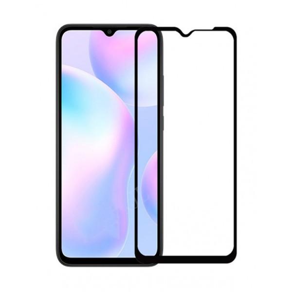 Folie Sticla Full Cover Full Glue Upzz Xiaomi Redmi 9a, Cu Adeziv Pe Toata Suprafata Foliei Neagra imagine itelmobile.ro 2021