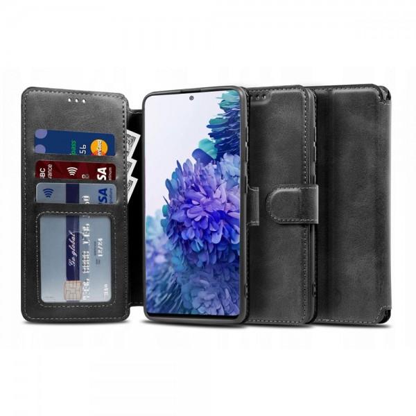 Husa Flip Carte Upzz Tech Wallet 2 Compatibil Cu Samsung Galaxy S20 Fe , Negru imagine itelmobile.ro 2021