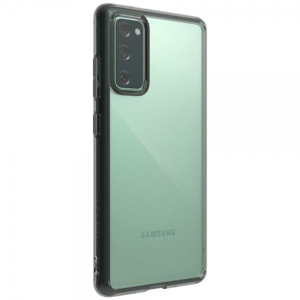 Husa Premium Ringke Fusion Samsung Galaxy S20 Fe, Smoke Black imagine itelmobile.ro 2021