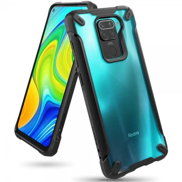 Husa Premium Ringke Fusion X Compatibila Cu Xiaomi Redmi Note 9 , Negru imagine itelmobile.ro 2021