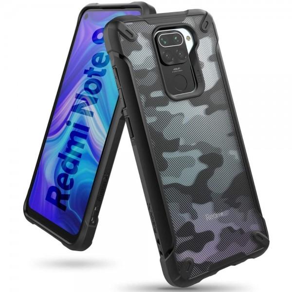 Husa Premium Ringke Fusion X Compatibila Cu Xiaomi Redmi Note 9 , Negru Camo imagine itelmobile.ro 2021
