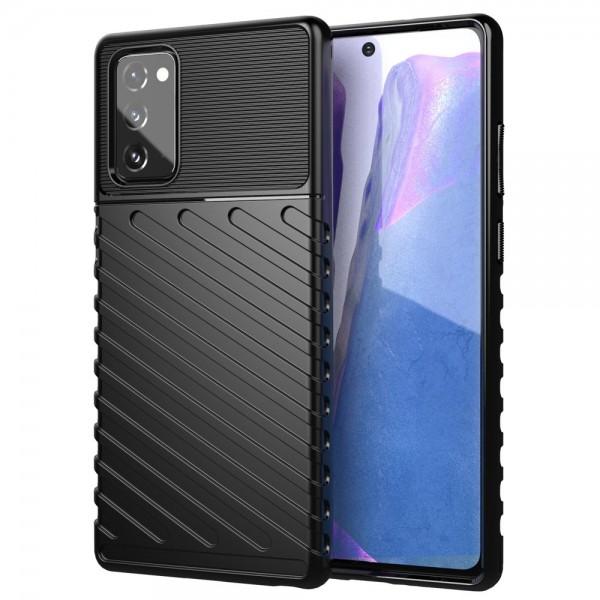 Husa Spate Upzz Thunder Case Antishock Samsung Galaxy Note 20 , Silicon , Negru imagine itelmobile.ro 2021