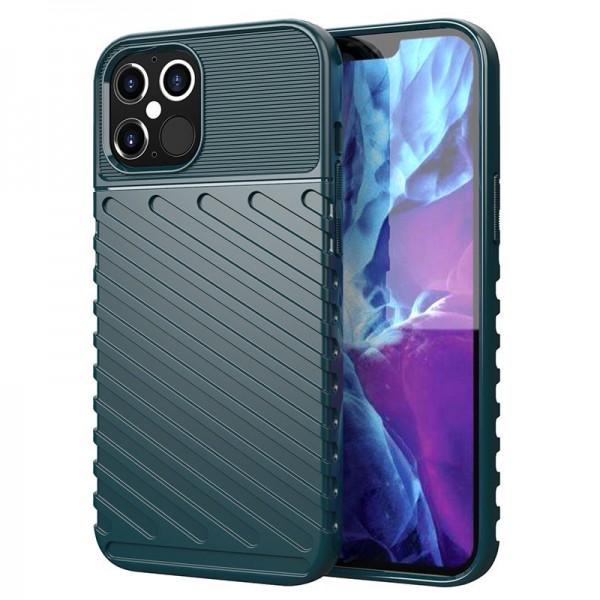 Husa Spate Upzz Thunder Case Antishock iPhone 12 Pro Max , Silicon , Verde imagine itelmobile.ro 2021