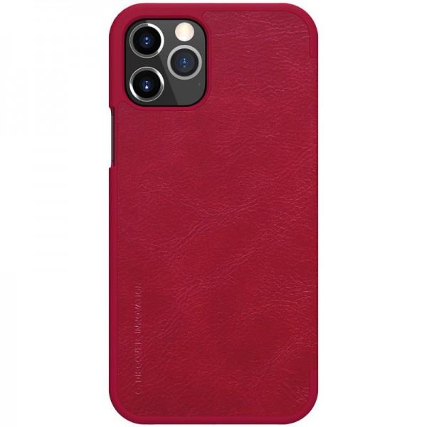 Husa Flip Cover Book Premium Nillkin Qin iPhone 12 Pro Max , Rosu imagine itelmobile.ro 2021