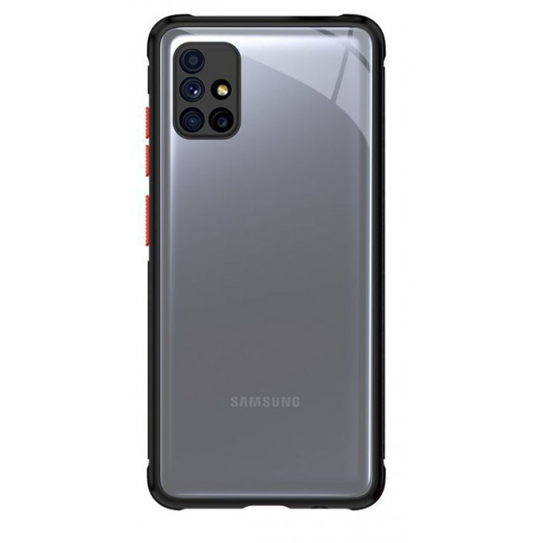 Husa Premium Upzz Tech Protect Hybridshell Pentru Samsung Galaxy M51 , Negru Rosu imagine itelmobile.ro 2021
