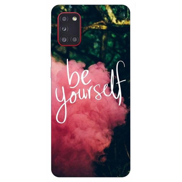 Husa Silicon Soft Upzz Print Samsung Galaxy A31 Model Be Yourself imagine itelmobile.ro 2021