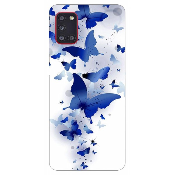 Husa Silicon Soft Upzz Print Samsung Galaxy A31 Model Blue Butterflies imagine itelmobile.ro 2021