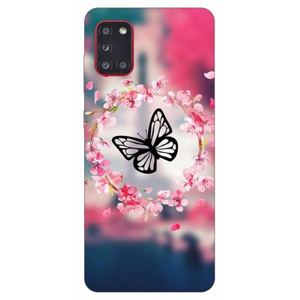 Husa Silicon Soft Upzz Print Samsung Galaxy A31 Model Butterfly imagine itelmobile.ro 2021
