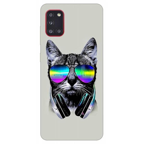 Husa Silicon Soft Upzz Print Samsung Galaxy A31 Model Cat imagine itelmobile.ro 2021