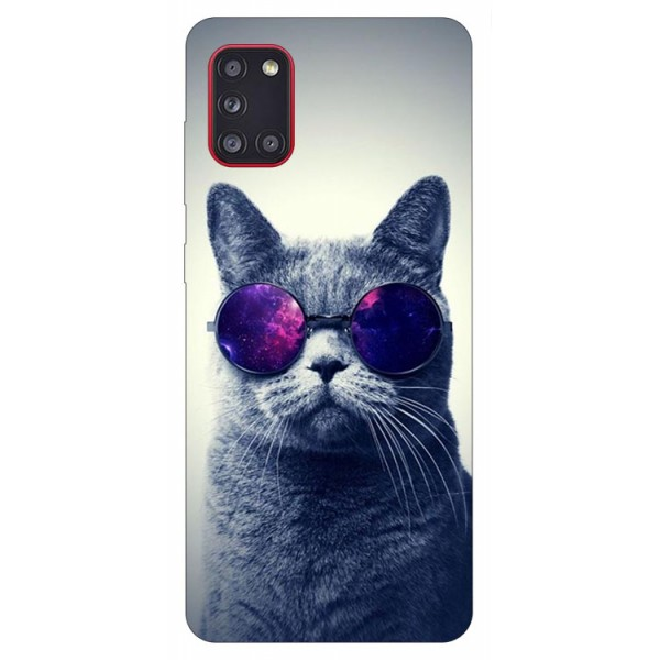 Husa Silicon Soft Upzz Print Samsung Galaxy A31 Model Cool Cat imagine itelmobile.ro 2021