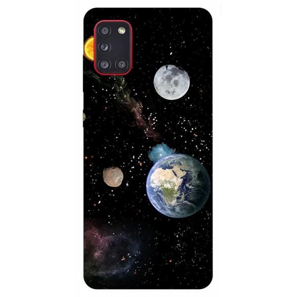 Husa Silicon Soft Upzz Print Samsung Galaxy A31 Model Earth imagine itelmobile.ro 2021