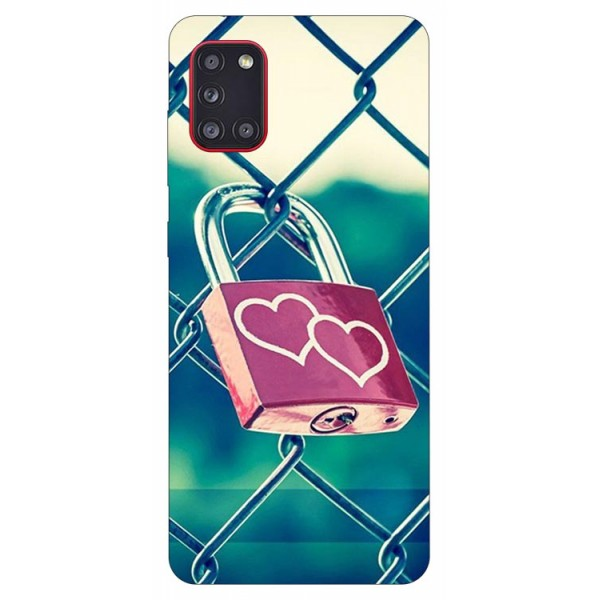 Husa Silicon Soft Upzz Print Samsung Galaxy A31 Model Heart Lock imagine itelmobile.ro 2021