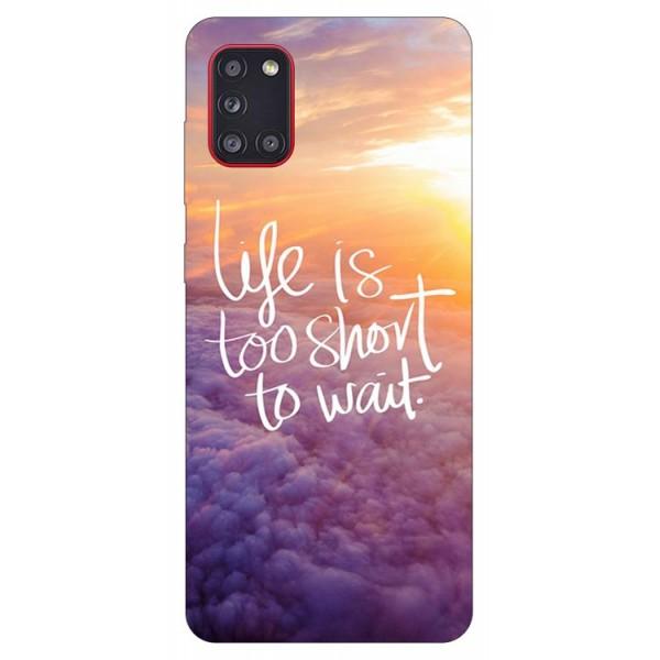 Husa Silicon Soft Upzz Print Samsung Galaxy A31 Model Life imagine itelmobile.ro 2021